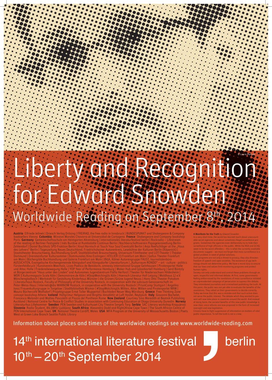 Lesung Edward Snowden